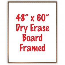 """48"""" x 60"""" Framed Dry Erase Whiteboard"""
