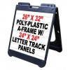 Letter Track A-frame Signs