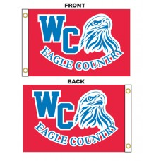 Custom 3' x 5' Polyester Flags Double Sided