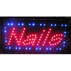 "13""H X 24""W Nails LED Sign"