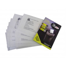 12 Lube Sheets for Document Shredders