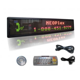 """9""""H x 50""""W 3 Color Scrolling LED Sign"""