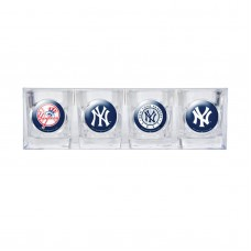 New York Yankees 4 pc Shot Glass Set