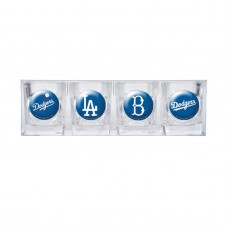 Los Angeles Dodgers 4 pc Shot Glass Set
