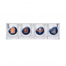 Detroit Tigers 4 pc Shot Glass Set