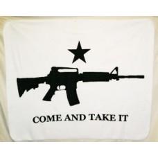 Come And Take it Carbine Polar Fleece Throw/Blanket
