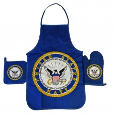 United States Navy Apron & Oven Mitt Set