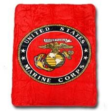 United States Marines Mink Fleece Blanket