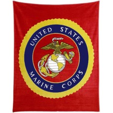 United States Marines Polar Fleece Throw/Blanket