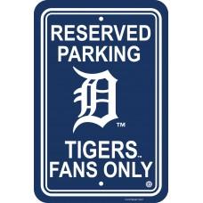 Detroit Tigers Parking Sign