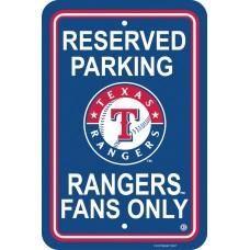 Texas Rangers Parking Sign