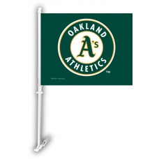 Oakland Athletics Two Sided Car Flag
