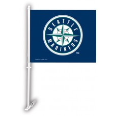 Seattle Mariners Two Sided Car Flag