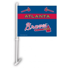 Atlanta Braves Two Sided Car Flag