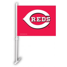 Cincinnati Reds Two Sided Car Flag