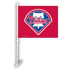 Philadelphia Phillies Two Sided Car Flag