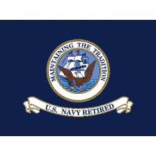 United States Navy Retired 3' x 4' Flag