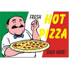 Fresh Hot Pizza 2' x 3' Vinyl Business Banner