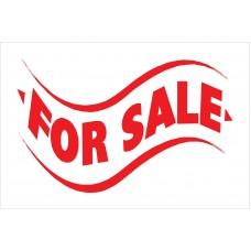 For Sale White 2' x 3' Vinyl Business Banner