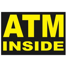 ATM Inside 2' x 3' Vinyl Business Banner