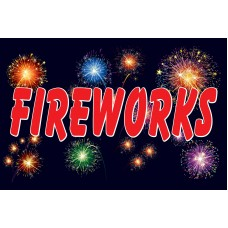 Fireworks Night 2' x 3' Vinyl Business Banner