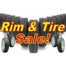 Rim & Tire Sale 2' x 3' Vinyl Business Banner