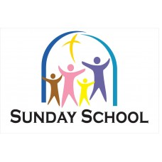 Sunday School 2' x 3' Vinyl Church Banner