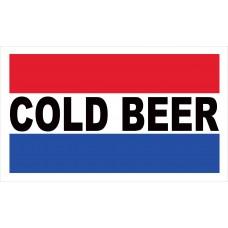 Cold Beer 2' x 3' Vinyl Business Banner