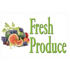 Fresh Fruit Produce 2' x 3' Vinyl Business Banner