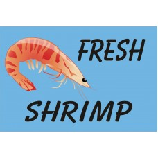 Fresh Shrimp Blue 2' x 3' Vinyl Business Banner