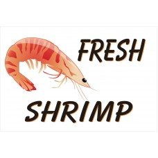 Fresh Shrimp 2' x 3' Vinyl Business Banner
