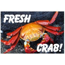 Fresh Crab 2' x 3' Vinyl Business Banner