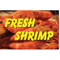 Fresh Shrimp Yellow 2' x 3' Vinyl Business Banner