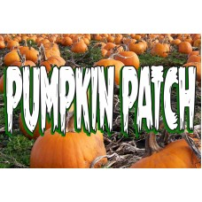 Halloween Pumpkin Patch 2' x 3' Vinyl Business Banner
