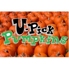 Halloween U Pick Pumpkins 2' x 3' Vinyl Business Banner