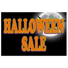 Halloween Sale Full Moon 2' x 3' Vinyl Business Banner