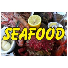 Seafood Lobster Shrimp 2' X 3' Vinyl Business Banner