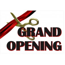 Grand Opening Ribbon 2' x 3' Vinyl Business Banner