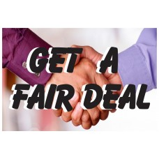 Get A Fair Deal 2' x 3' Vinyl Business Banner
