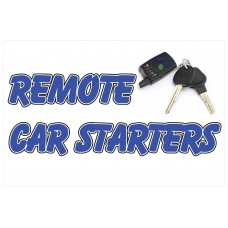 Remote Car Starter 2' x 3' Vinyl Business Banner