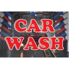 Car Wash Red & Blue 2' x 3' Vinyl Business Banner