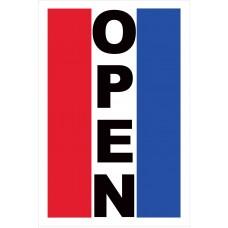 Open Vertical 2' x 3' Vinyl Business Banner
