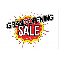 Grand Opening Sale Explosion 2' x 3' Vinyl Business Banner