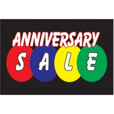Anniversary Sale Black 2' x 3' Vinyl Business Banner