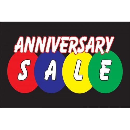 Anniversary sale black vinyl business banner