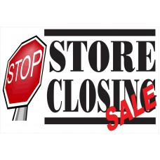 Store Closing Stop Sign 2' x 3' Vinyl Business Banner