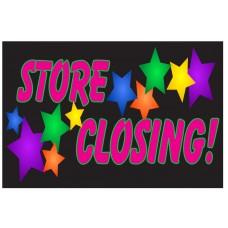 Store Closing Stars 2' x 3' Vinyl Business Banner