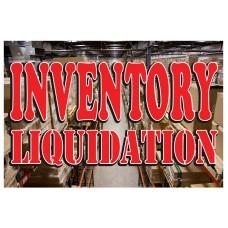 Inventory Liquidation 2' x 3' Vinyl Business Banner