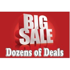 Big Sale Dozens Of Deals 2' x 3' Vinyl Business Banner