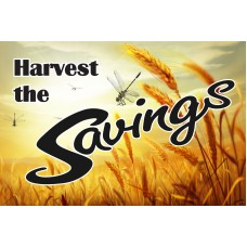 Harvest The Savings 2' x 3' Vinyl Business Banner